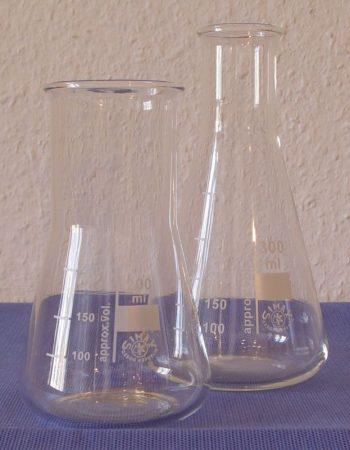 Erlenmeyer lombik, bő,   50 ml