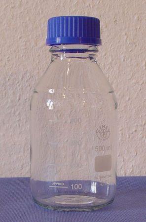 Laborpalack, autoklávozható kupakkal (GL 45),  100 ml