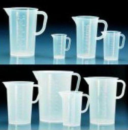Műanyag mérőpohár, füllel, domborított, 2000 ml