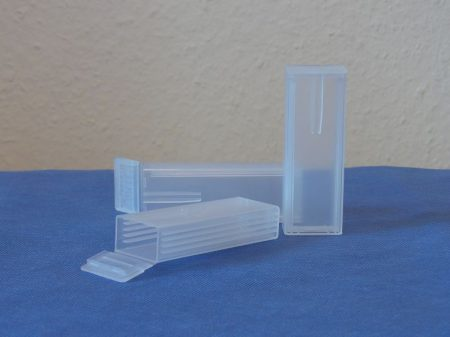 Tárgylemeztartó doboz, műanyag, 5 részes