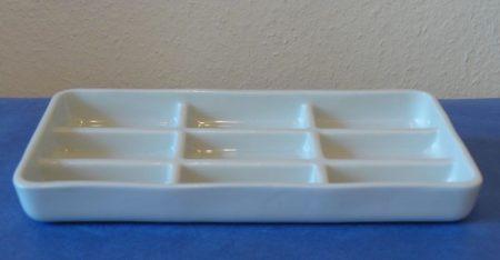 Fogorvosi műszertál, 9 részes, 200*100*20 mm