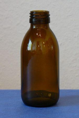 Gyógyszeres üveg DIN 28,  200 ml (67 db/tálca) TÁLCÁS