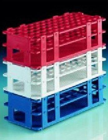 Kémcsőállvány, műanyag, 18 mm/10 férőhely