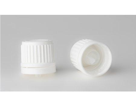 Gyógyszeres üvegre kupak, DIN 18, csepp. betétes