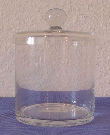 Üvegdoboz, gombos fedővel, 10*10 cm
